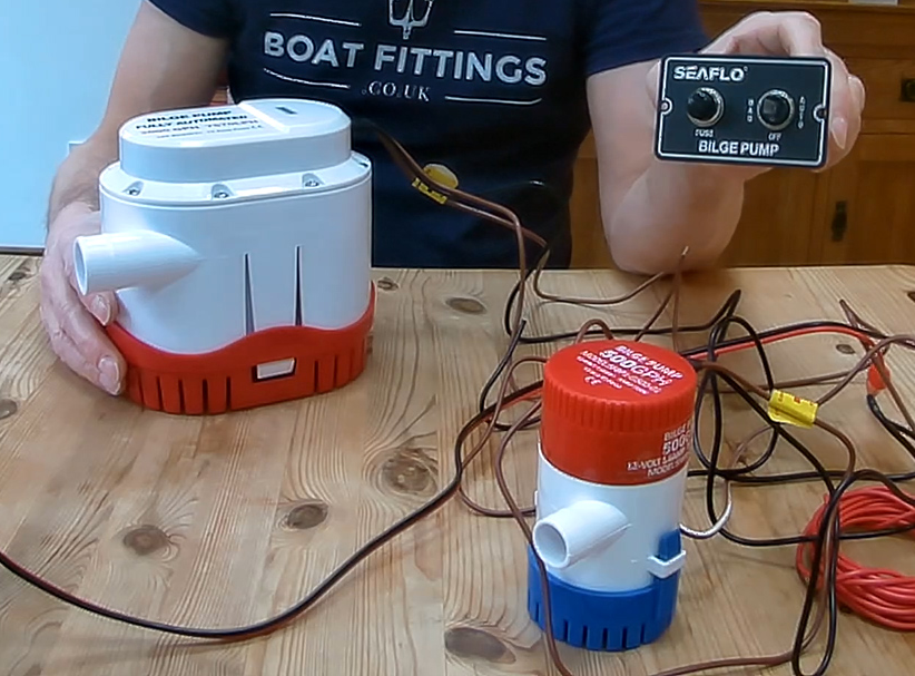 how do you wire a bilge pump  boat fittings