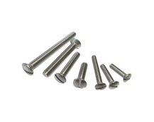 Raised Slot Countersunk Set Screws, Stainless Steel (316) A4-Marine Grade