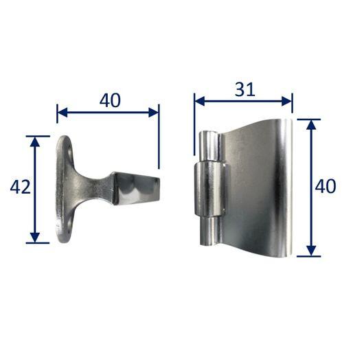 Stainless Steel A4 (316) Door Holder, Marine & Sailing, Door, Locker, Cabinet, 42mm image #