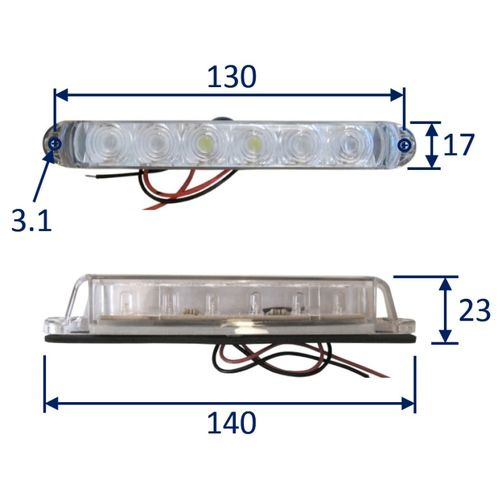 LED Light 6-LED Linear. Surface Mounted. Waterproof To IP67 image #