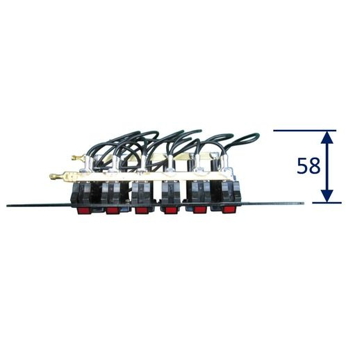 6-Gang Electrical Marine Switch Panel image #