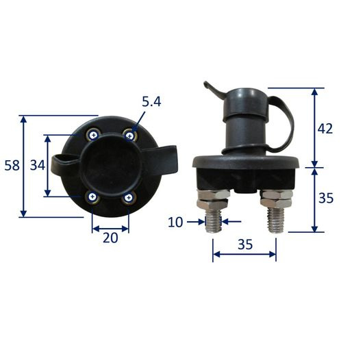 Marine Electrical Master Battery Switch, 100A 12V image #