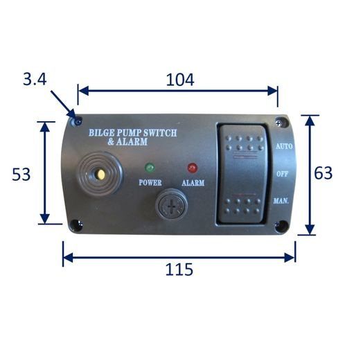 Water Protected Bilge Pump Switch With Safety Alarm image #