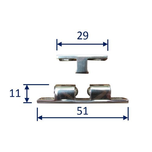 Stainless Steel Ball Catch, Locker Door, Cabin Door Latching in 316 (A4) Marine Grade image #
