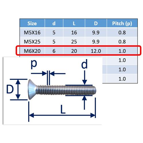 Stainless Steel Countersunk Socket Set Screws image #9