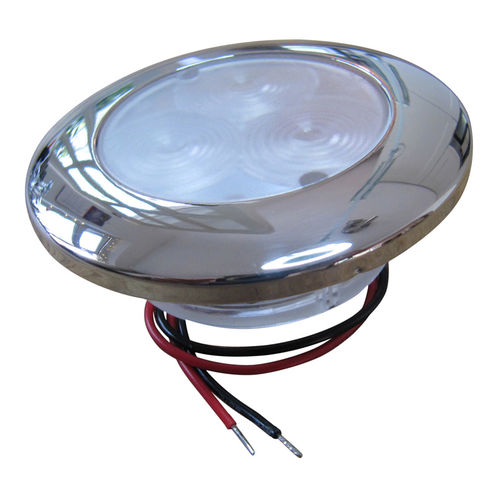 WaterProof Marine LED Flush Mount Light With Stainless Steel Cover 12V 3 LED Boat Sailing / Cabin IP66 image #1