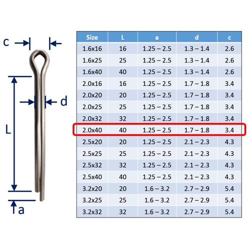 Split Pins / Split Cotter Pins image #8