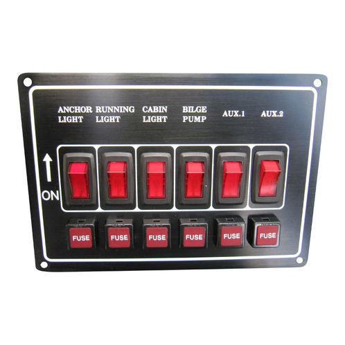 6-Gang Electrical Marine Switch Panel image #1