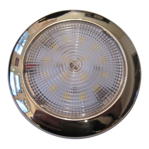 High-Power Waterproof LED Light With Stainless Steel Cover 12V 16 LED image #1