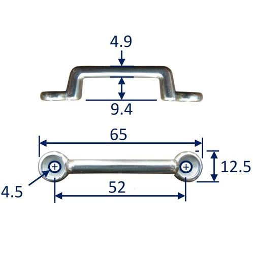 Stainless Steel Strap End / Staple / Securing Bracket image #1