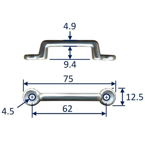 Stainless Steel Strap End / Staple / Securing Bracket image #2