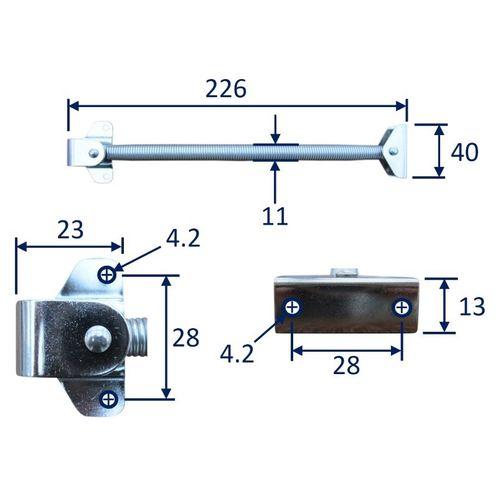 Hatch Spring Holder / Door Holder, Stainless Steel image #1