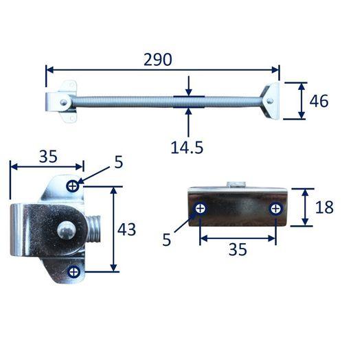 Hatch Spring Holder / Door Holder, Stainless Steel image #2