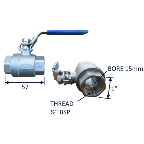 Seacock Ball-Valve Type Seacock In 316 Stainless Steel image #2