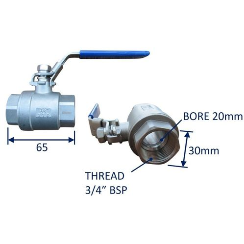 Seacock Ball-Valve Type Seacock In 316 Stainless Steel image #3
