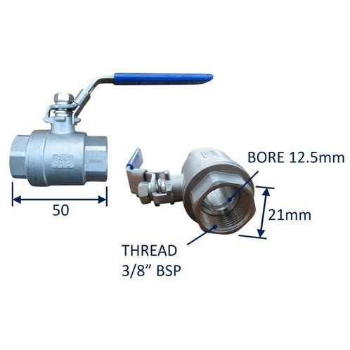 Seacock Ball-Valve Type Seacock In 316 Stainless Steel image #1
