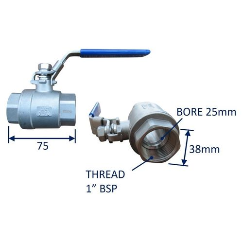 Seacock Ball-Valve Type Seacock In 316 Stainless Steel image #4