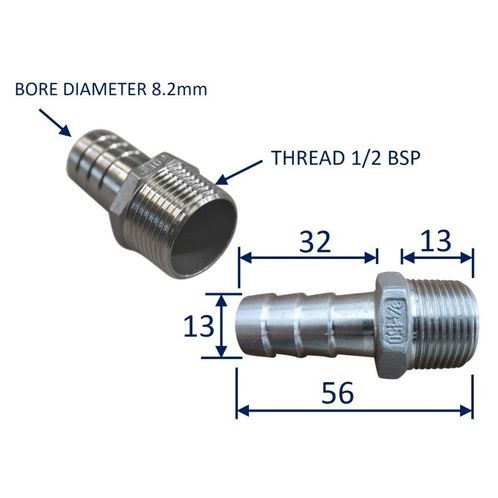 Stainless Steel Pipe Fitting With External Thread (BSP) image #2