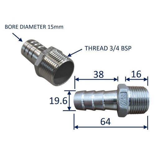 Stainless Steel Pipe Fitting With External Thread (BSP) image #3