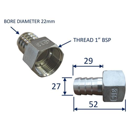 Stainless Steel Pipe Fitting With Internal Thread (BSP) image #4