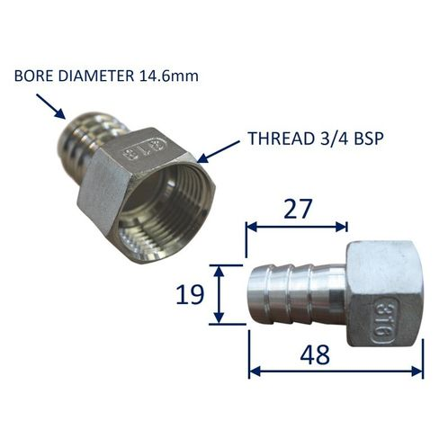Stainless Steel Pipe Fitting With Internal Thread (BSP) image #3
