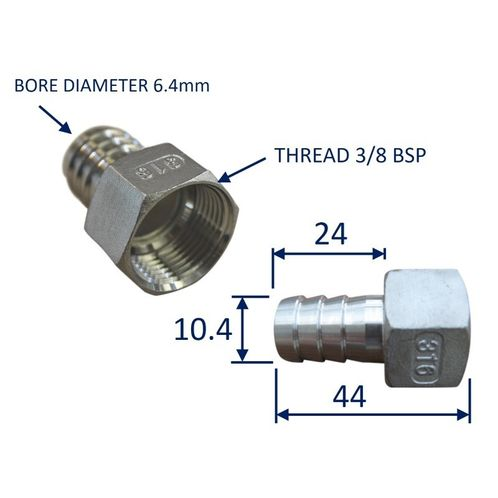 Stainless Steel Pipe Fitting With Internal Thread (BSP) image #1