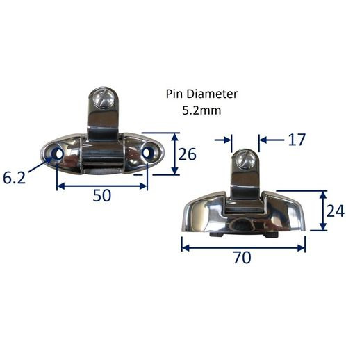 Universal Deck Hinge For Spray Hoods & Canopies image #
