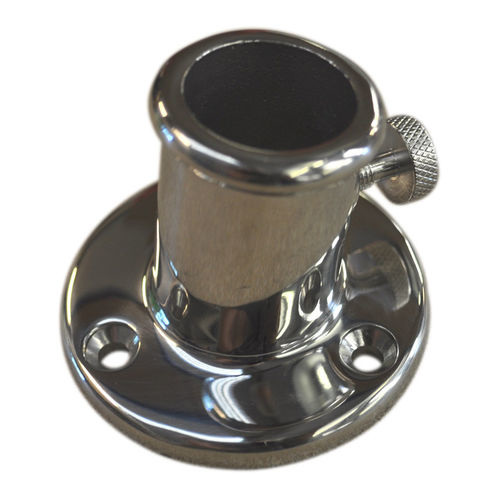 Flag pole holder, stainless steel deck bracket for flag-pole mounting image #