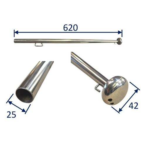 Stainless Steel Flag Pole, Boat Flag-Pole, 316 Stainless image #