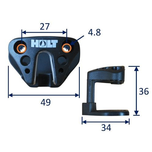 Fairlead for small cam cleat with integrated base. image #