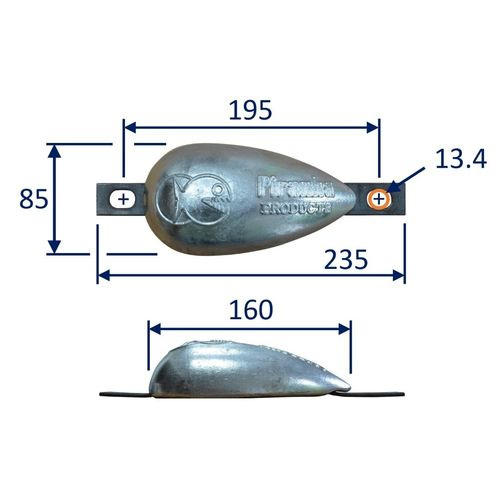 Boat zinc anode