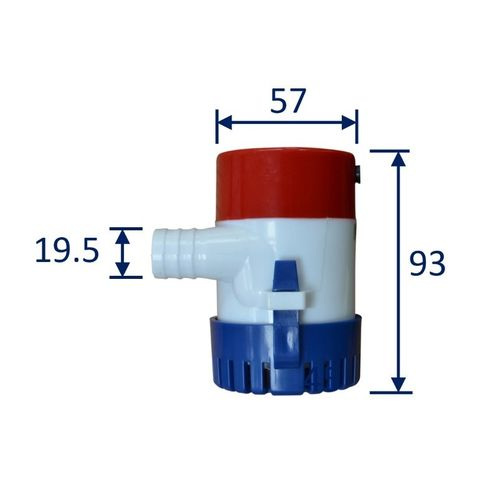 12V bilge pump dimensions