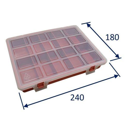 Plastic Kit Box, 240x180x35mm External Size, 10 Compartment  image #