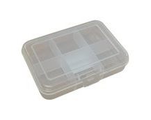 Plastic Kit Box, 90x65x21mm External Size, 6 Compartment
