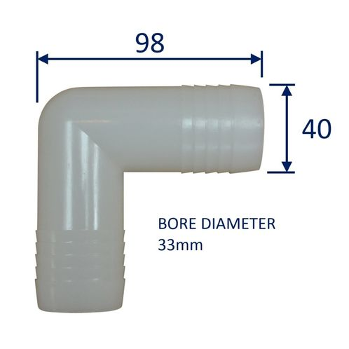 Hose Elbow Right-Angle Fitting Connector Joiner image #6