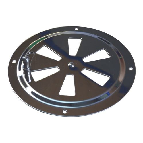 Round Stainless Steel Vent, 125mm Diameter, With Closing Action image #1