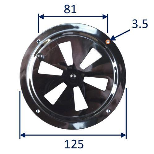 Circular boat vent panel