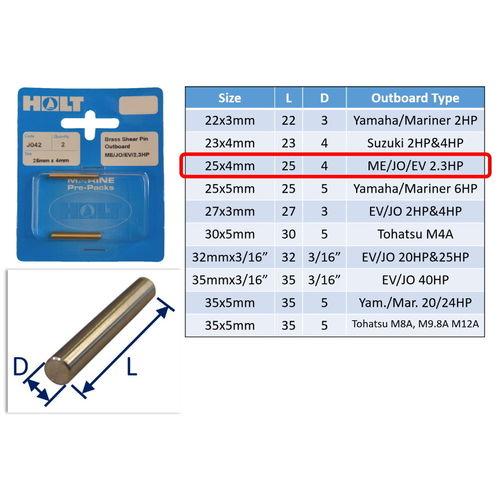 Outboard Shear Pin / Propellor Shear Pins / Outboard Motor Shear Pin (2 pack) image #3