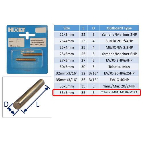 Outboard Shear Pin / Propellor Shear Pins / Outboard Motor Shear Pin (2 pack) image #10