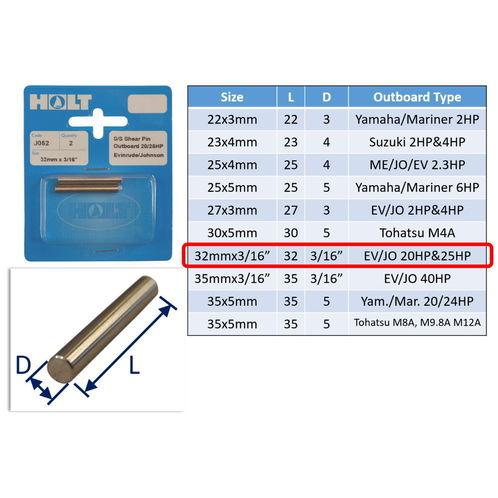 Outboard Shear Pin / Propellor Shear Pins / Outboard Motor Shear Pin (2 pack) image #7