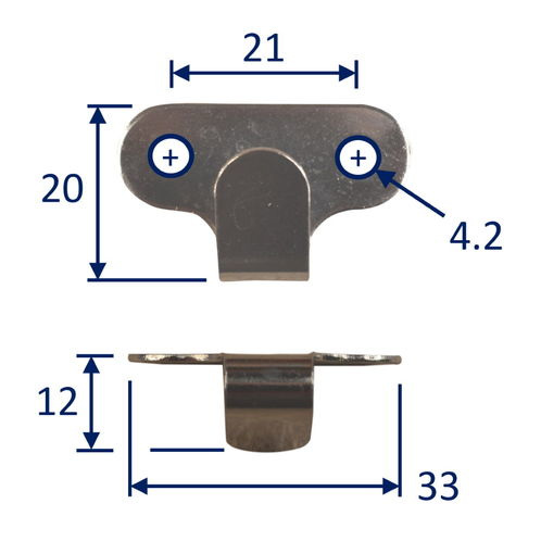 Stainless Steel Marine Canopy Hooks With Screws (2 pack) image #
