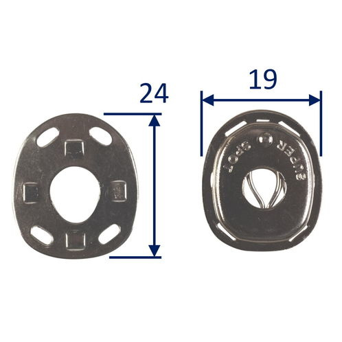 Boat Canopy Cloth Eyelets For Pull-Up Fastening, Nickel-Plated Brass (2 pack) image #