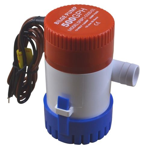 12V Bilge Pump, 500 Gallons Per Hour, Submersible. image #1