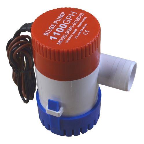 12V Bilge Pump, 1100 Gallons Per Hour, Submersible. image #1