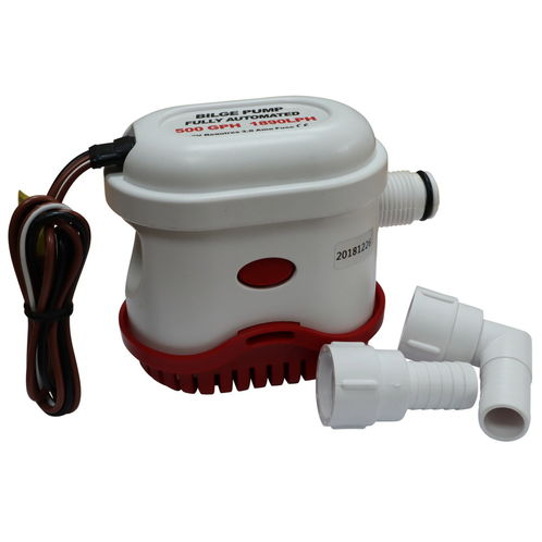 Automatic Bilge Pump, 500 Gallons Per Hour, 12V, Submersible image #1