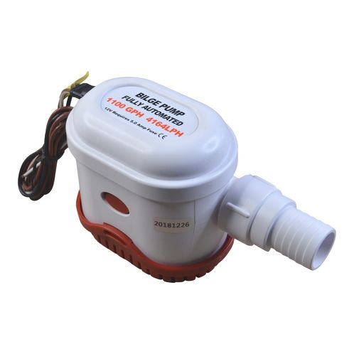 Automatic Bilge Pump, 1100 Gallons Per Hour, 12V, Submersible image #1