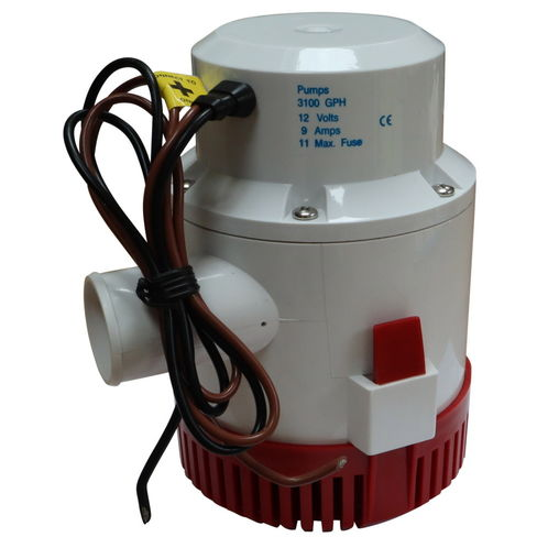 Automatic Bilge Pump, 3100 Gallons Per Hour, 12V, Submersible image #1