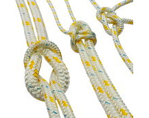 polyester braided rope, yellow fleck
