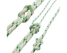 polyester braided rope, green fleck