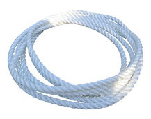 white 3-strand polyester rope
